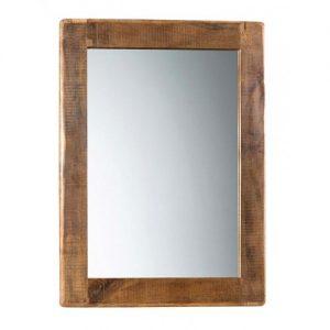 Specchiera in legno antico cornice massello rustico