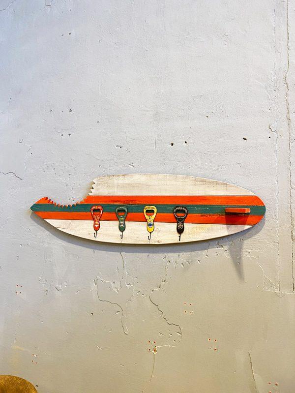 tavola surf appendiabiti da parete idea originale attaccapanni da muro a forma di tavola da surf
