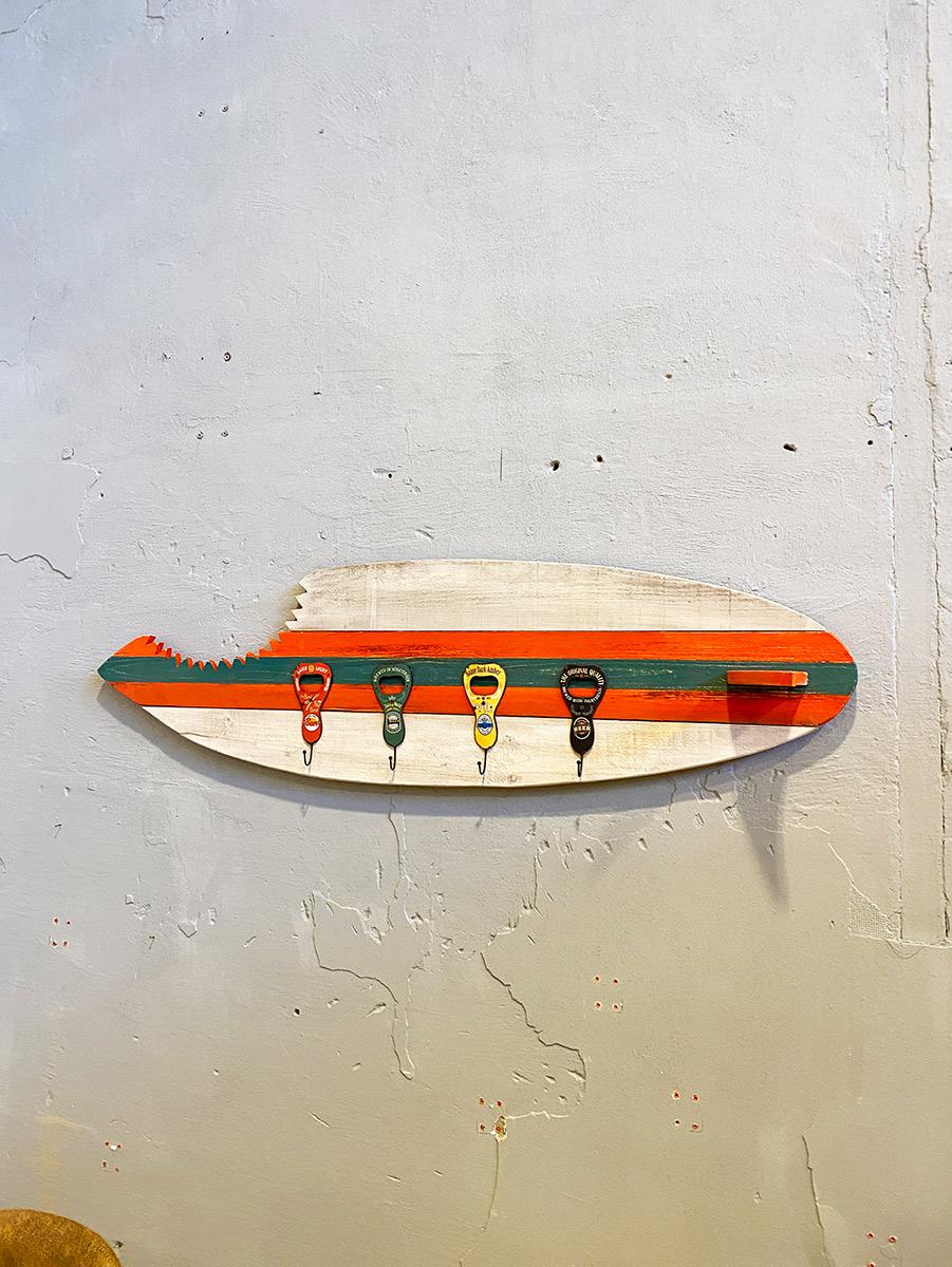 Appendiabiti Classici A Muro appendiabiti da parete tavola surf board in legno con ganci vintage