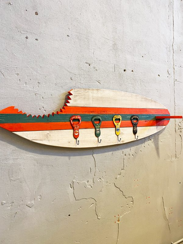 tavola surf board appendiabiti da parete di design vintage xlab design