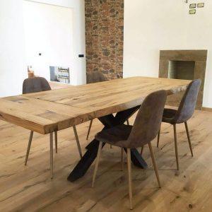 Tavoli da cucina allungabili in legno rustico