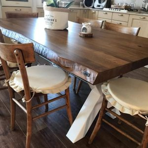 Tavoli da cucina in legno grezzo