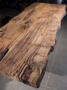 tavoli in legno massello artigianali su misura con gambe in ferro xlab design