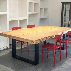 Tavoli sala da pranzo in legno massello grezzo