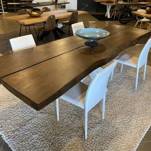 tavolo legno massello 3 metri castagno segato dal tronco LUX