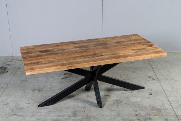 Tavolo rettangolare allungabile in legno di recupero