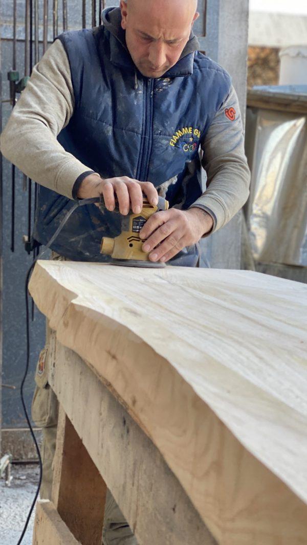 top bagno legno massello per lavabo da appoggio mensola da bagno in legno massello