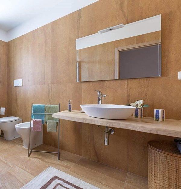 top bagno legno massello per lavabo da appoggio legno massello rustico xlab design