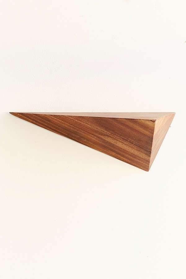 mensola in legno da parete in legno massello forma triangolare arreda la cucina