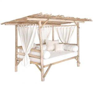 Divano letto baldacchino da giardino in legno marino di recupero – Ventotene