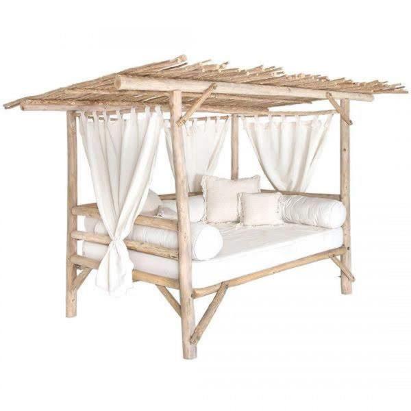 divano letto giardino outdoor in legno