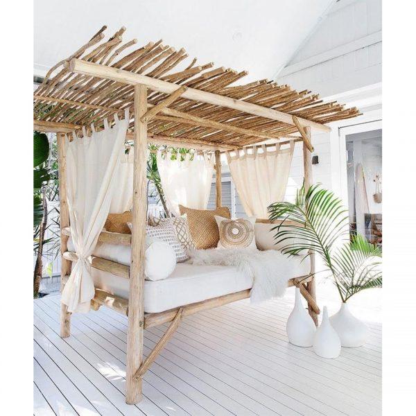 outdoor divano letto baldacchino da giardino in legno