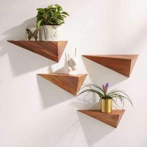 mensola da parete di design moderno in legno massello