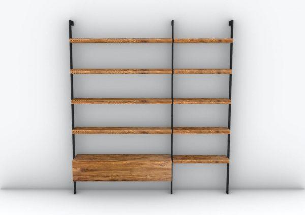 libreria mobile modulare stile industriale legno e ferro xlab
