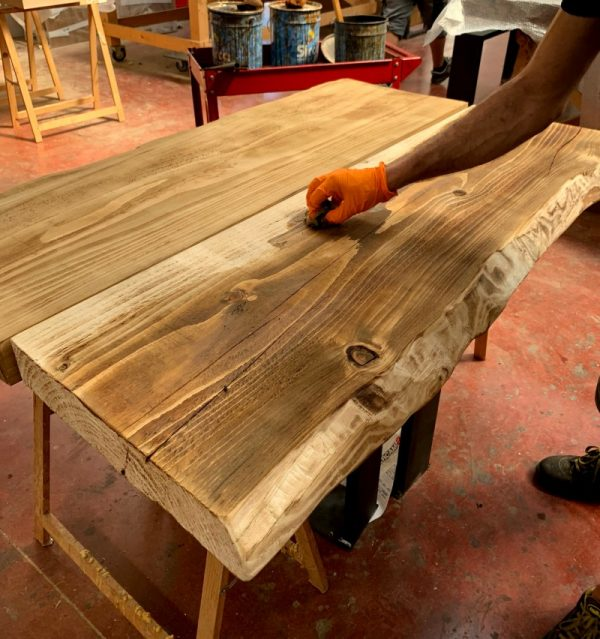 legno massello rovere bruciato finitura xlab design falegnameria online