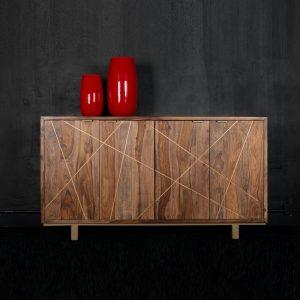 Credenza in legno massello con quattro ante – Arlette