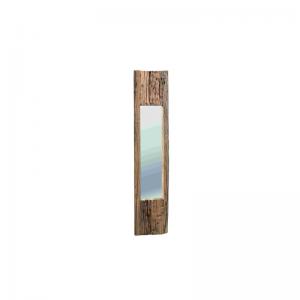 Specchio con cornice in legno massello invecchiato Madera