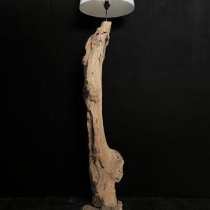 Lampada da terra in tronco marino Ponza