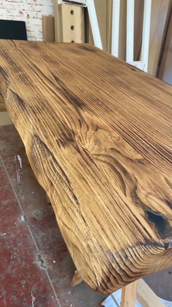 legno massello rovere bruciato letto matrimoniale xlab