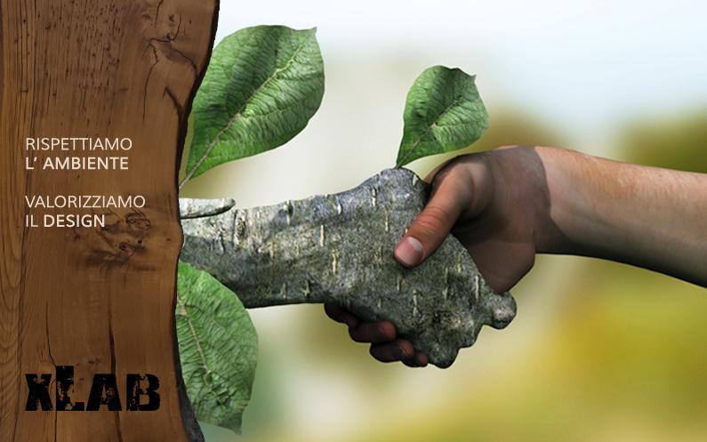 Arredamento sostenibile di design grazie alla terza vita del legno