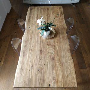 Tavolo legno Rovere grezzo effetto rustico 200×90 cm