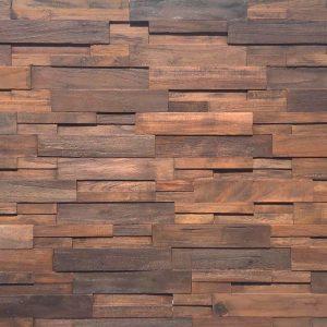 Rivestimento da parete in legno di recupero noce nazionale – 100x100x4 cm anche su misura