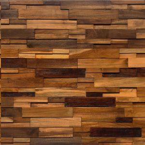 Rivestimento da parete in legno di recupero finitura olio 100x100x4 cm anche su misura