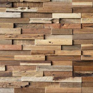 Rivestimento da parete in legno di recupero – 100x100x4 cm anche su misura