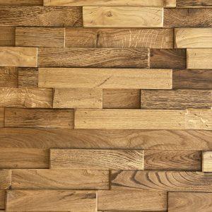 Rivestimento da parete in legno Rovere massello 100x100x4 cm anche su misura