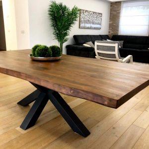 Tavolo legno massello Rovere colore Teak 250x100cm – Enric