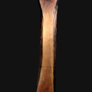Asse in legno grezzo di noce segato da tronco H270 L52-40 P8 Lelia