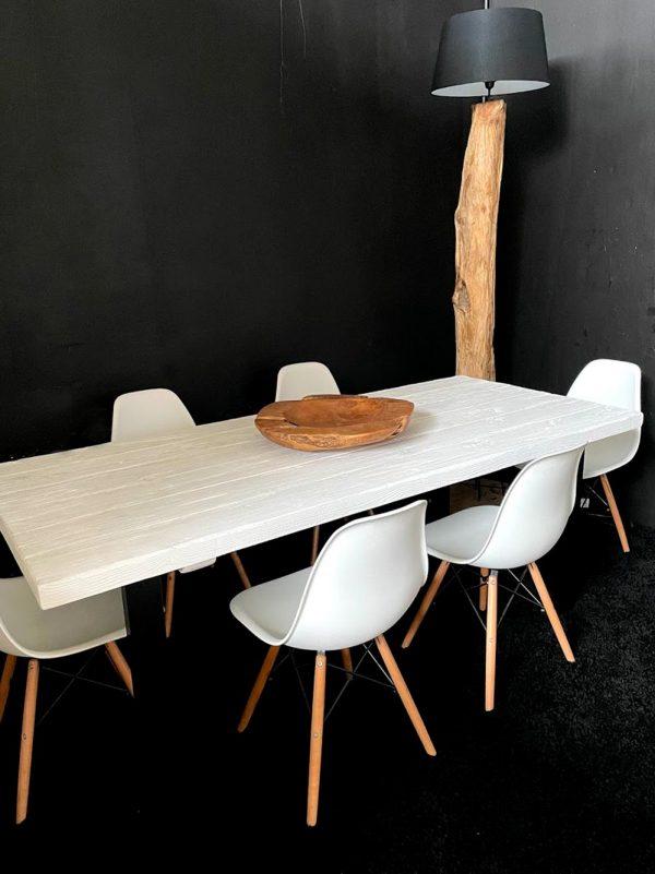 larice bianco legno massello tavolo