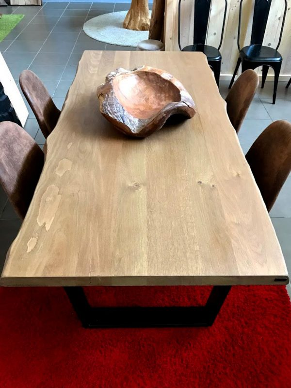 legno teak castagno massello tavolo