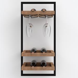 Portabottiglie cantinetta vino a parete 6 bottiglie di vino – Wine Frame