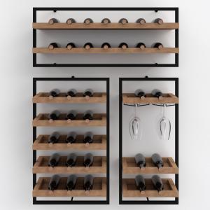 Portabottiglie da parete cantinetta di design 35 bottiglie di vino – Wine Frame