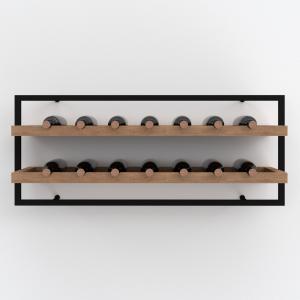 Portabottiglie cantinetta vino a parete 14 bottiglie di vino – Wine Frame