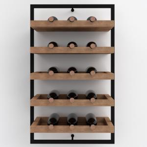 Portabottiglie cantinetta vino a parete 15 bottiglie di vino – Wine Frame