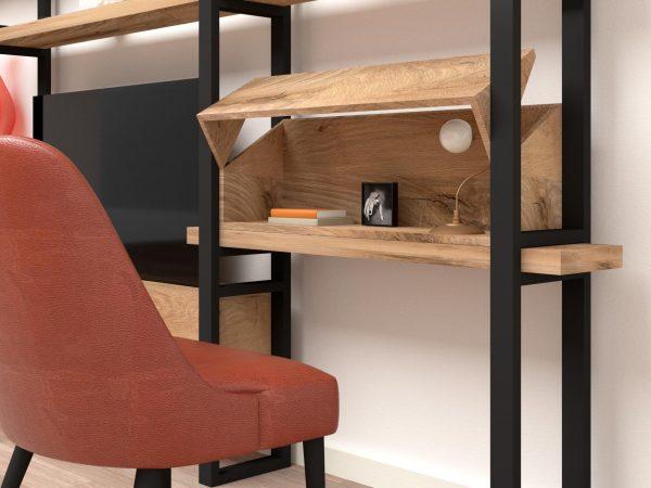 Legno ferro scrivania libreria massello rovere ferro