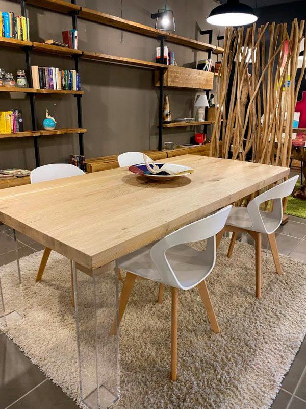 legno rovere naturale massello tavolo