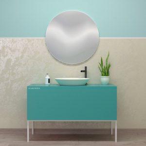Mobile bagno verde chiaro opaco con cassetti design moderno – Urano