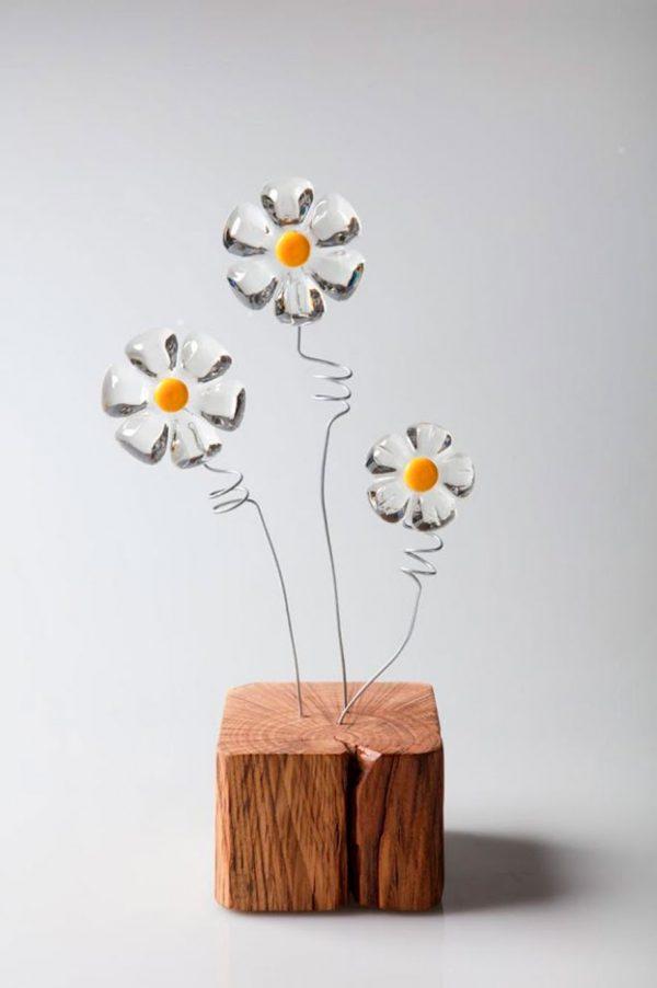 lampada oggetto arredo legno riuso