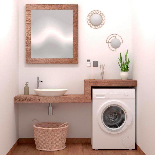 bagno lavanderia rovere mobile