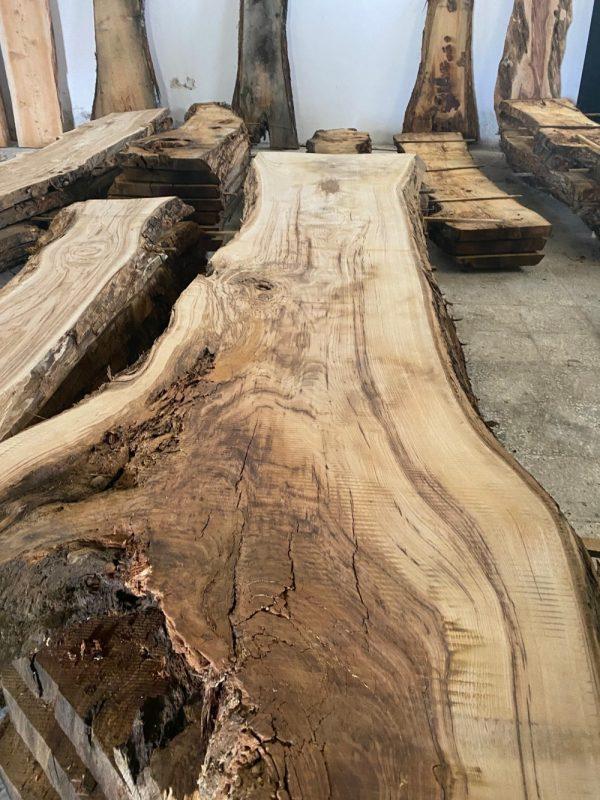 segato dal tronco assi di castagno per tavolo in legno xlab