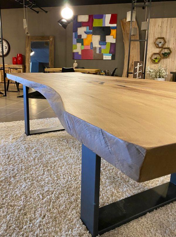 tavolo segato dal tronco bordo rustico xlab