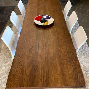 Tavolo in legno design moderno con gambe in ferro 300×100 cm – Olimpia