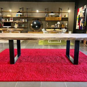 Tavolo sala da pranzo legno massello cipresso segato dal tronco 310×110 cm