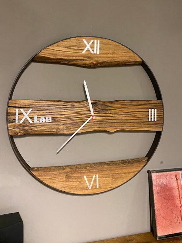 legno ferro orologio parete