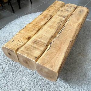 Tavolino da salotto travi in legno antico di castagno