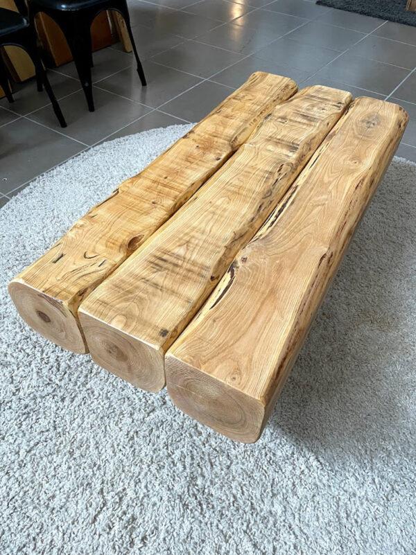 legno castagno massello tavolino salotto
