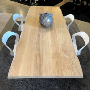 Tavolo in legno massello di rovere 160×90 cm allungabile fino a 240 cm